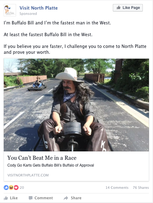 New Adventures of Buffalo Bill facebook ad