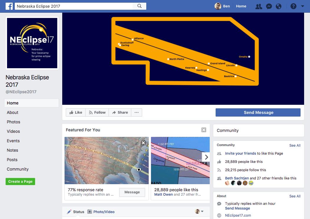 2017 NE Eclipse facebook page