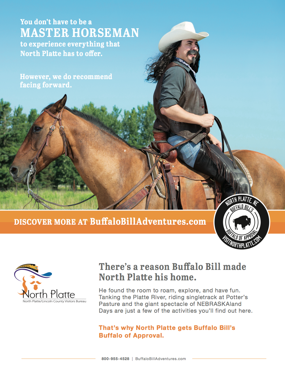 New Adventures of Buffalo Bill print ad