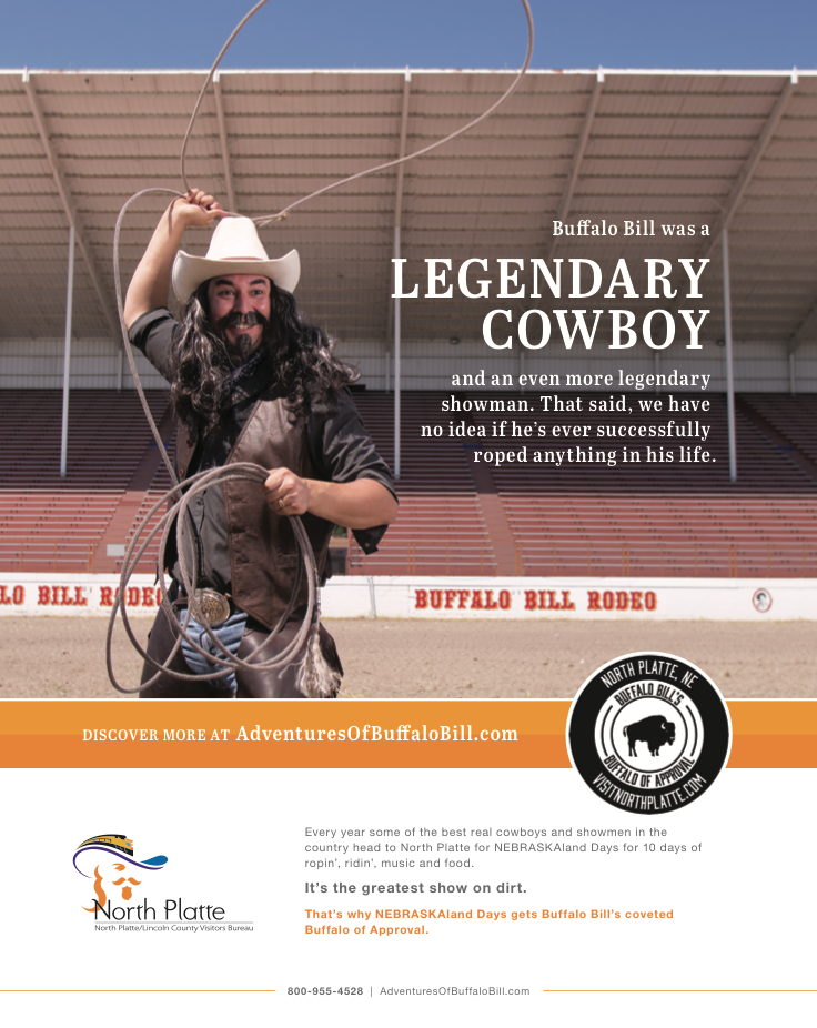 Buffalo Bill Rodeo Ad - Visit North Platte