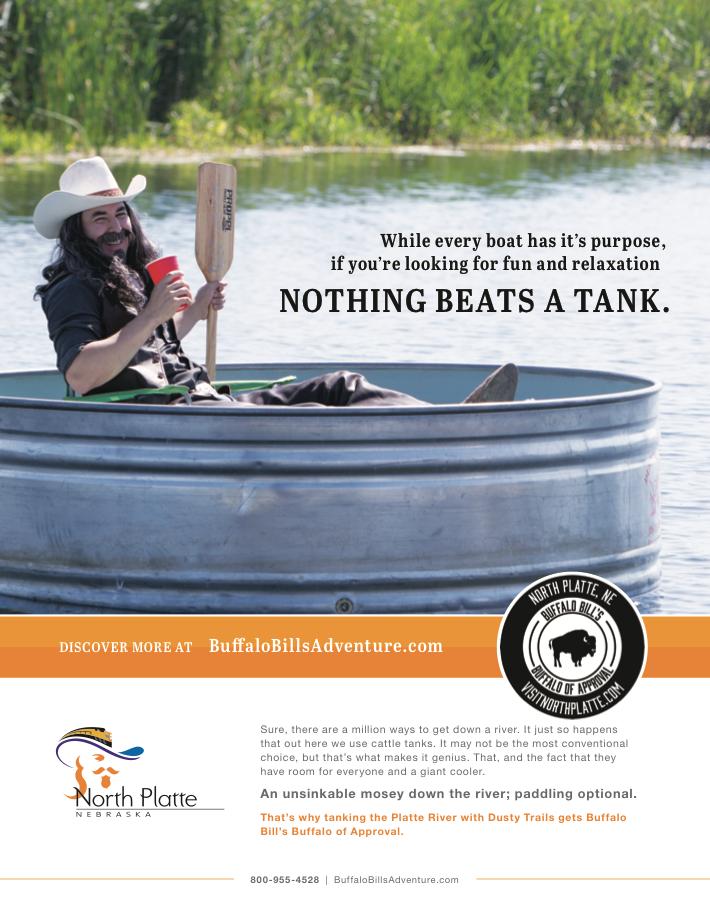 Buffalo Bill Tanking Ad - Visit North Platte